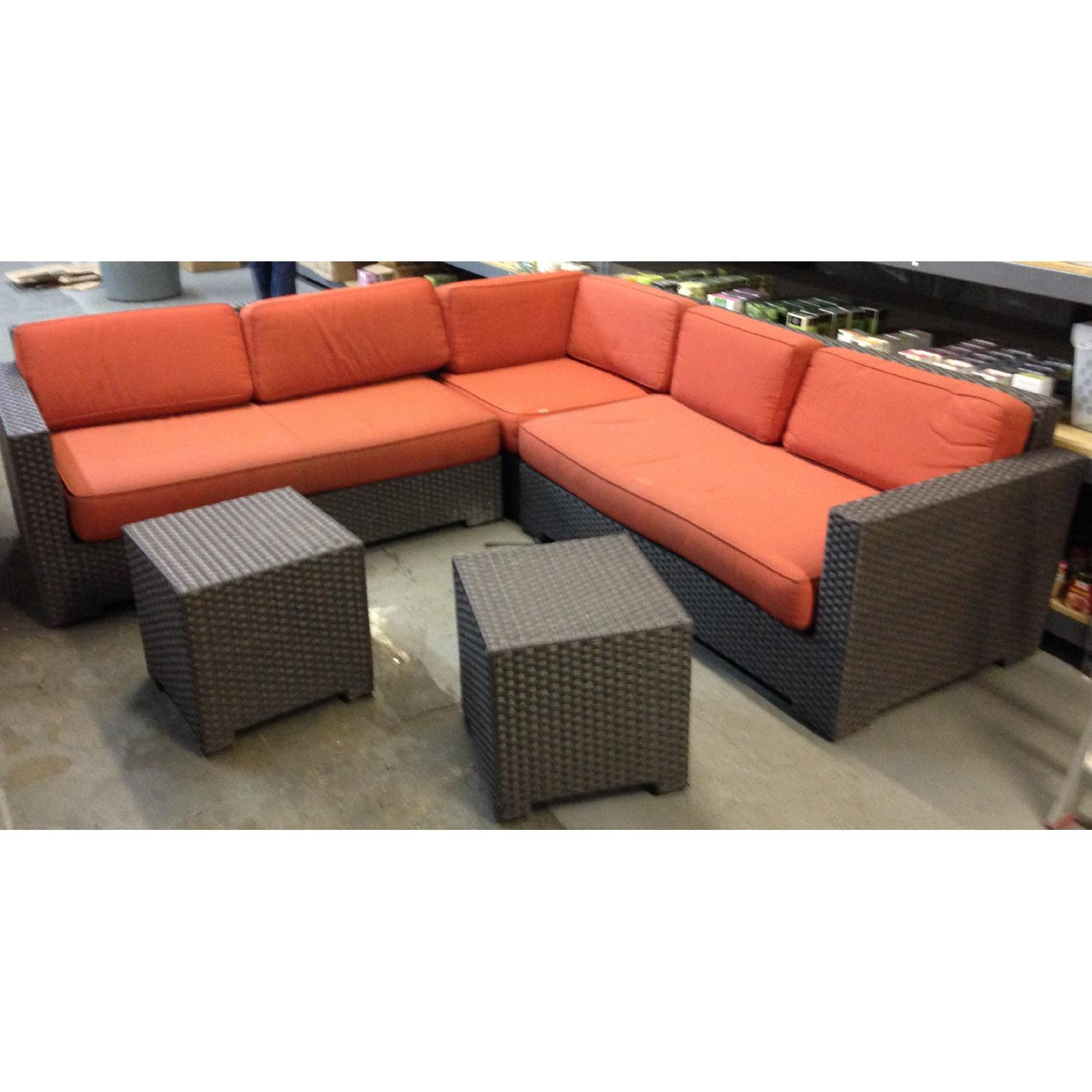 Crate & Barrel Ventura Modular 3 Piece Sectional & 2 Bunching Tables - image-1
