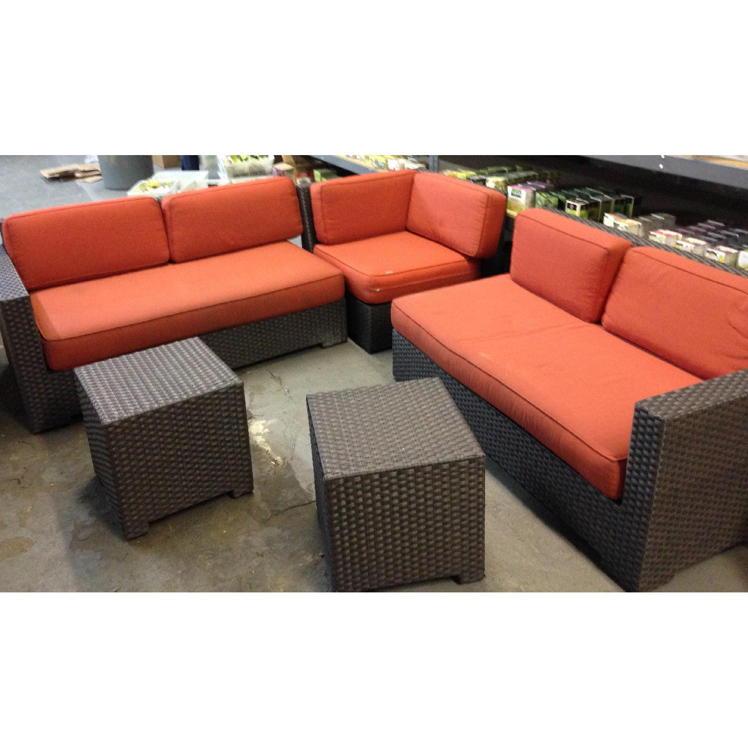 Crate & Barrel Ventura Modular 3 Piece Sectional & 2 Bunching Tables - image-2