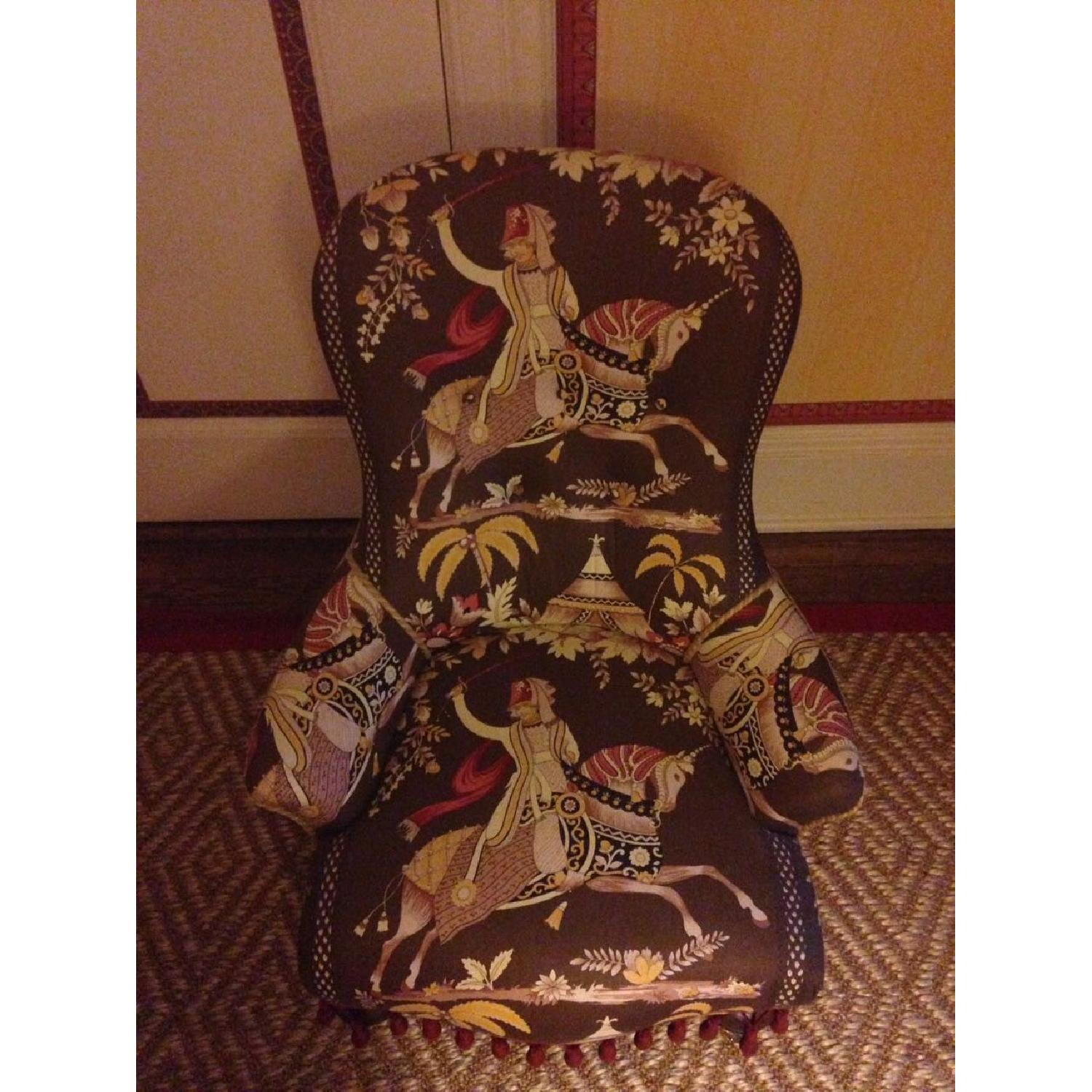 Small Upholstered Floor Chair - image-2