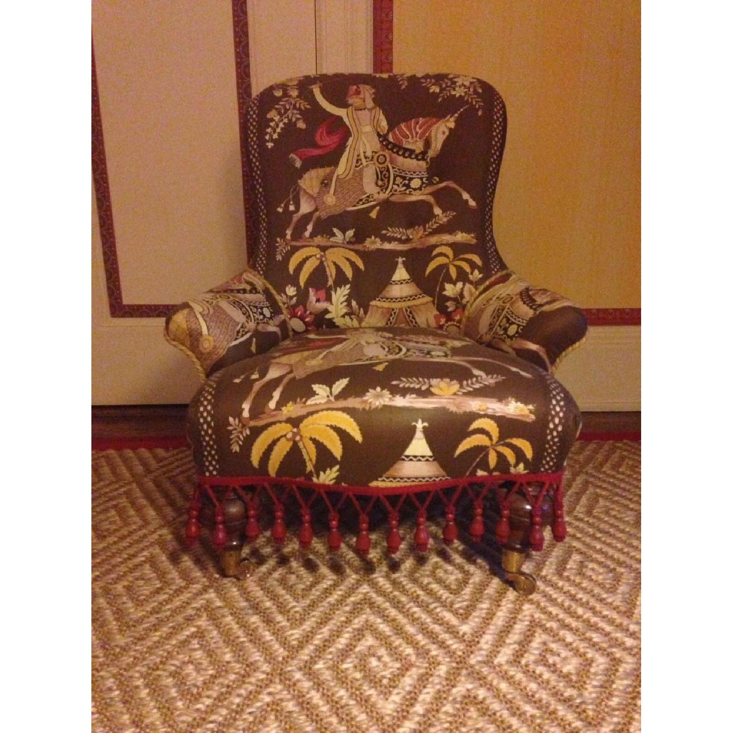 Small Upholstered Floor Chair - image-3