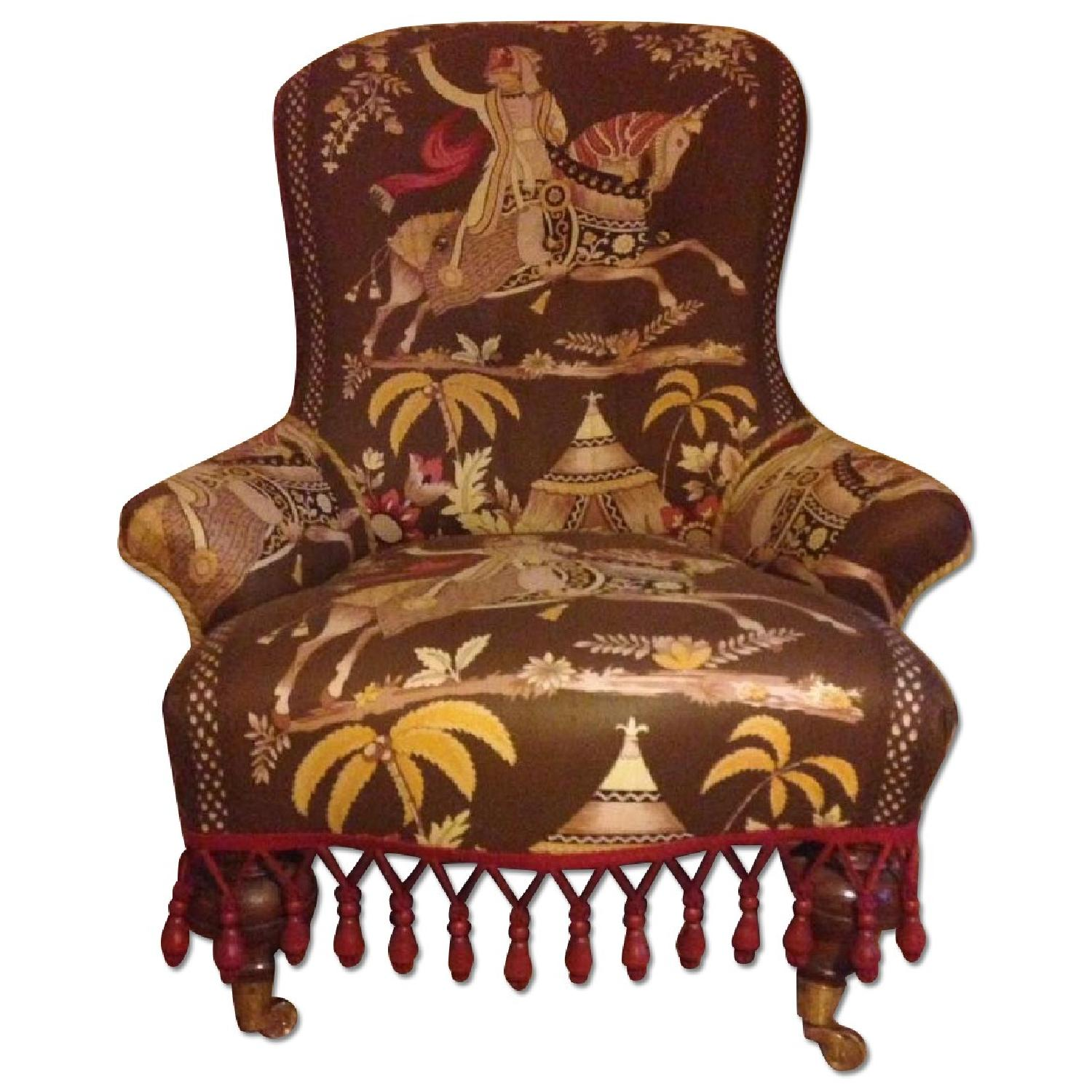 Small Upholstered Floor Chair - image-0