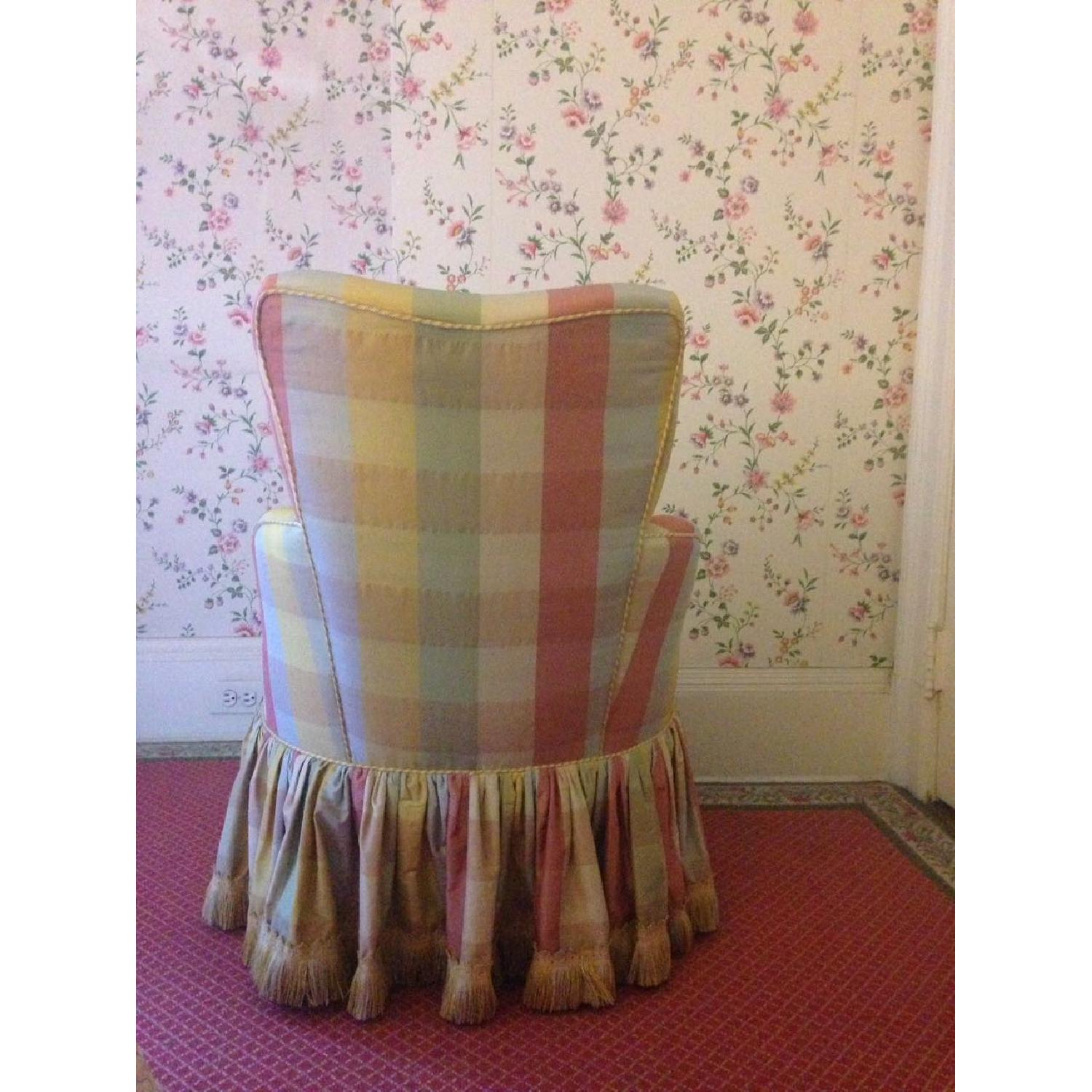 Small Chair w/ Check Silk - image-2