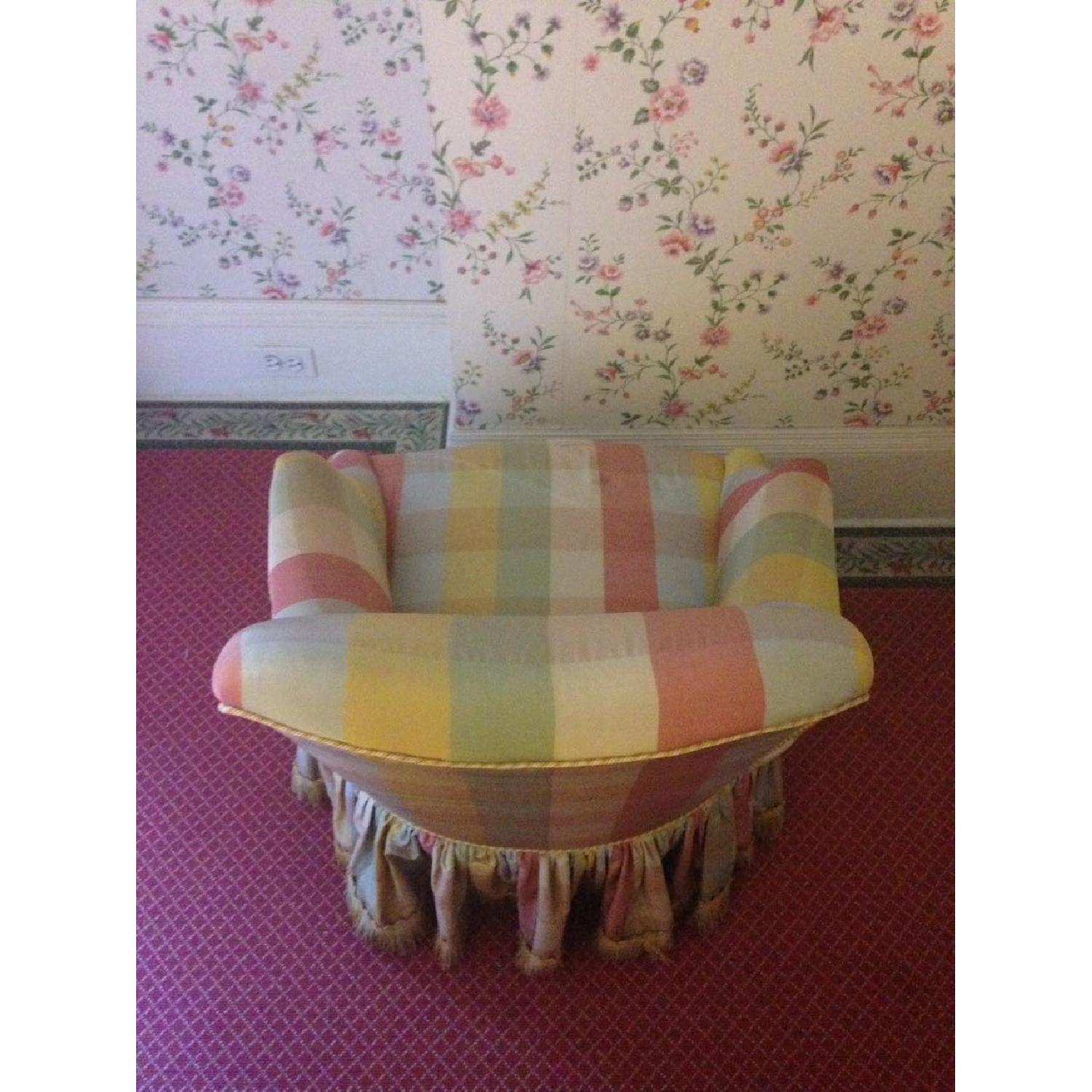 Small Chair w/ Check Silk - image-3