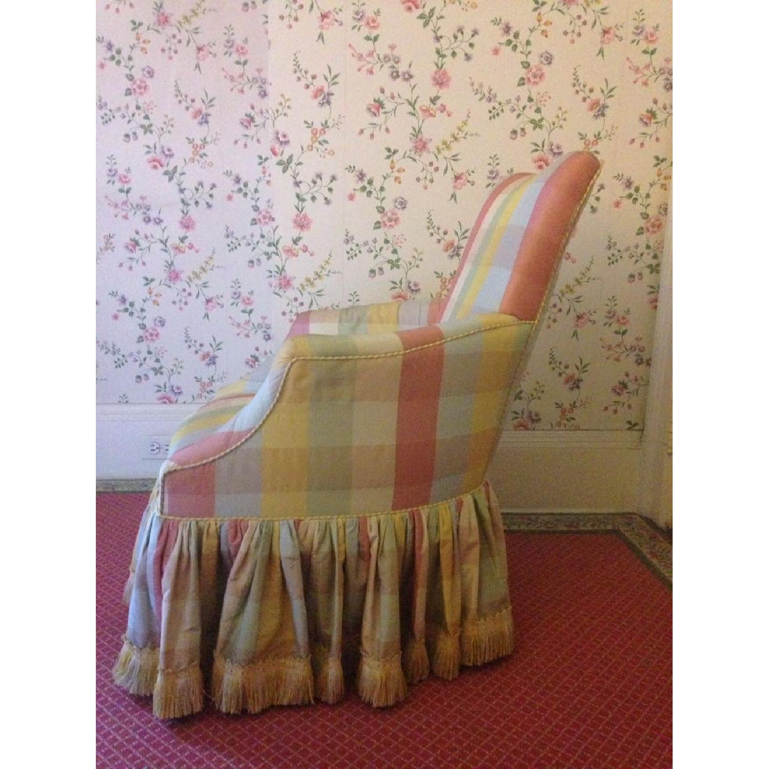 Small Chair w/ Check Silk - image-4