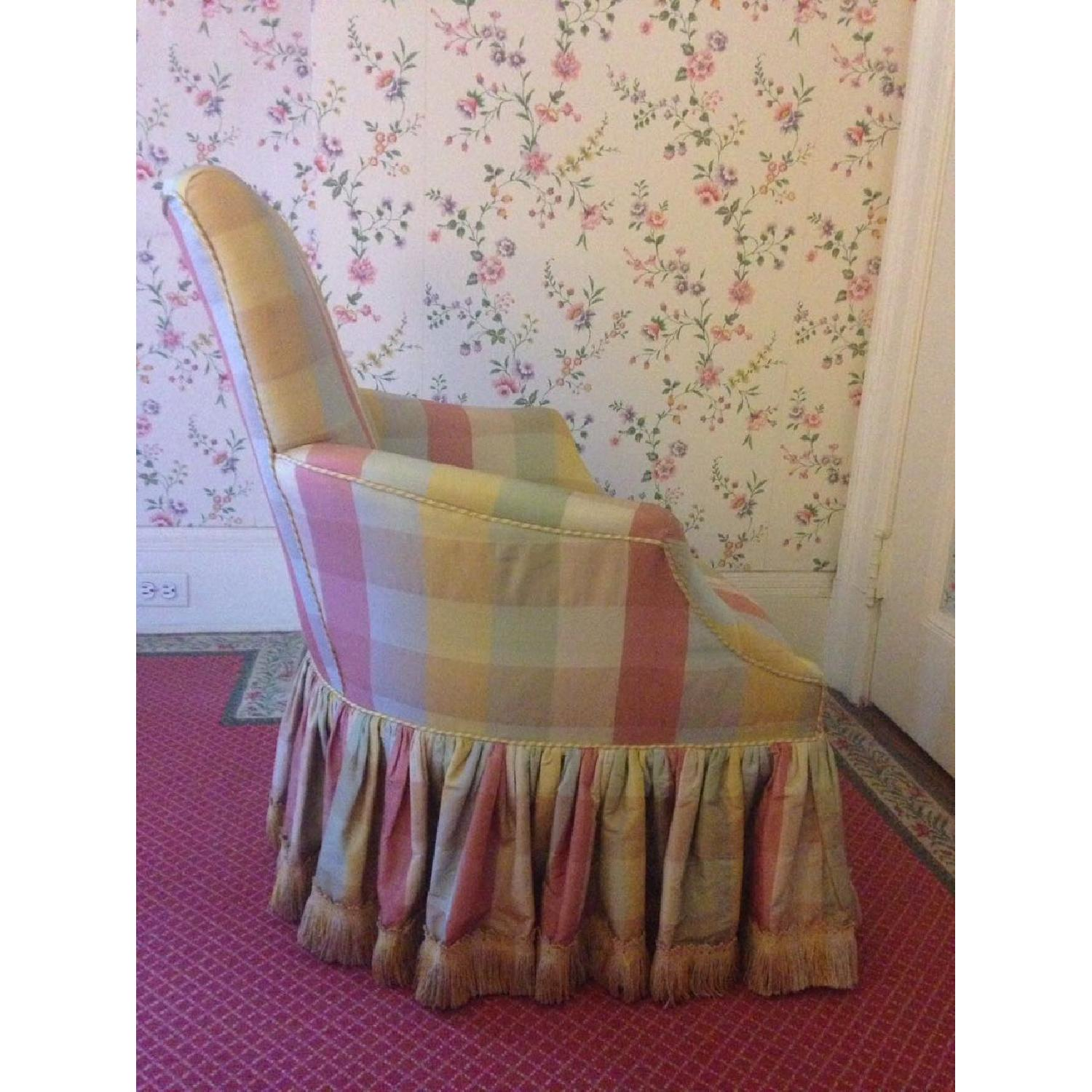 Small Chair w/ Check Silk - image-7
