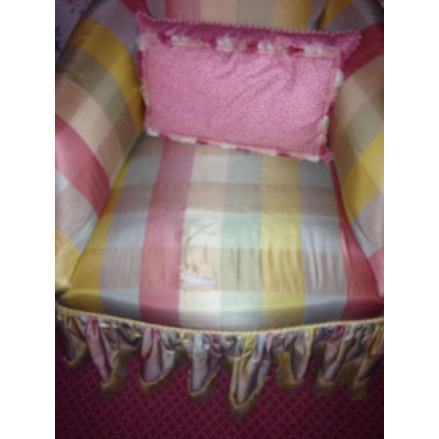 Small Chair w/ Check Silk - image-8