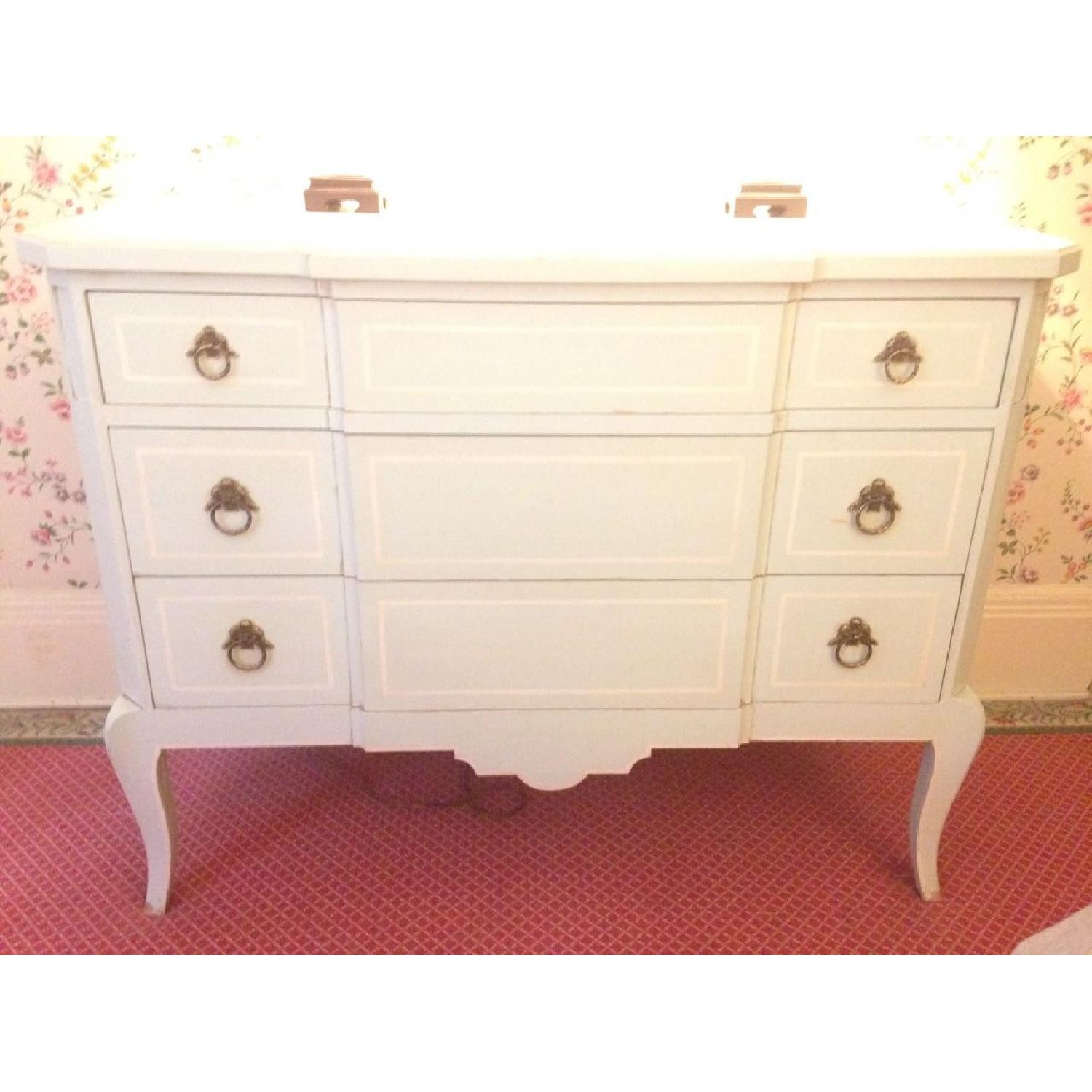 Julia Gray French Dresser w/ Blue Accents - image-12