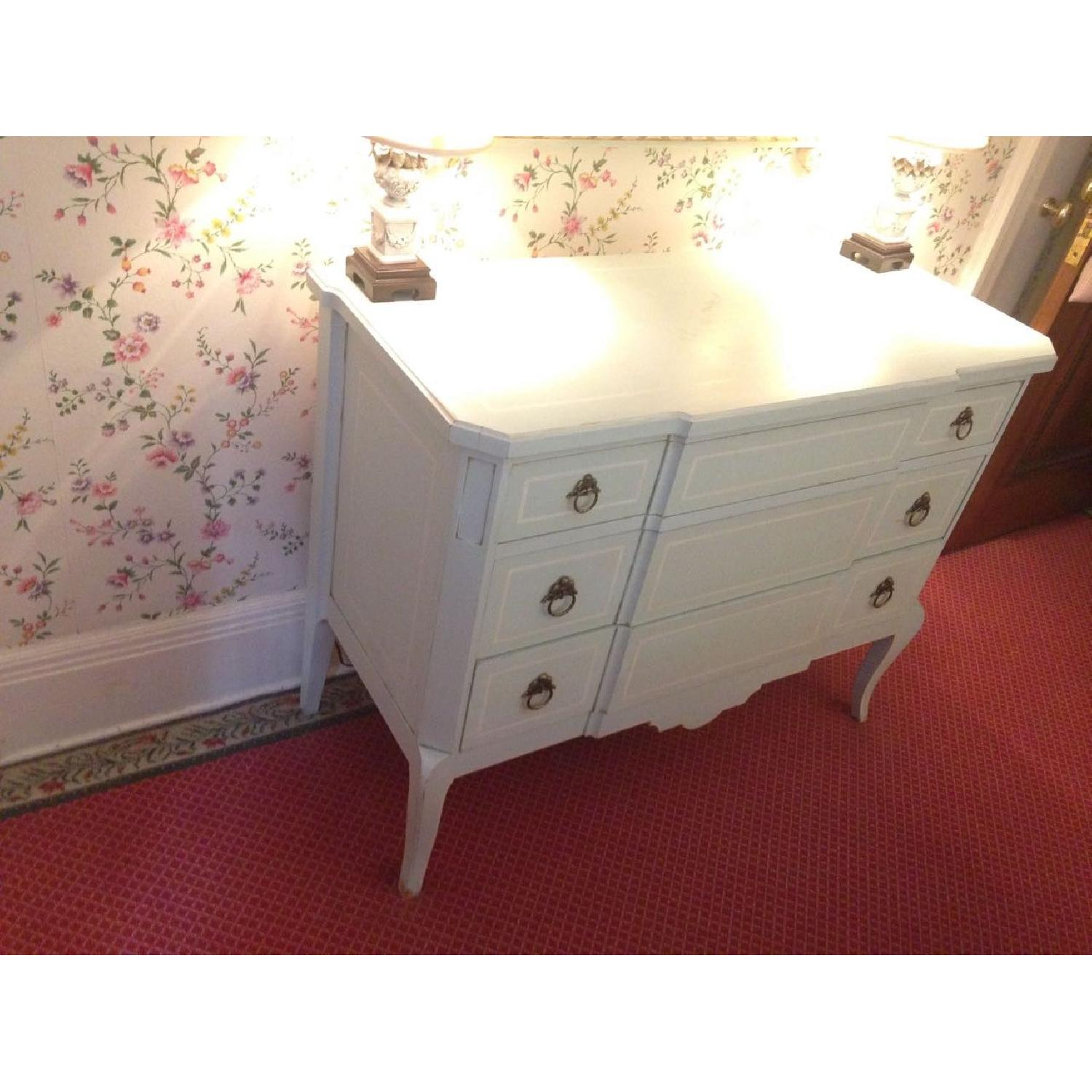 Julia Gray French Dresser w/ Blue Accents - image-14