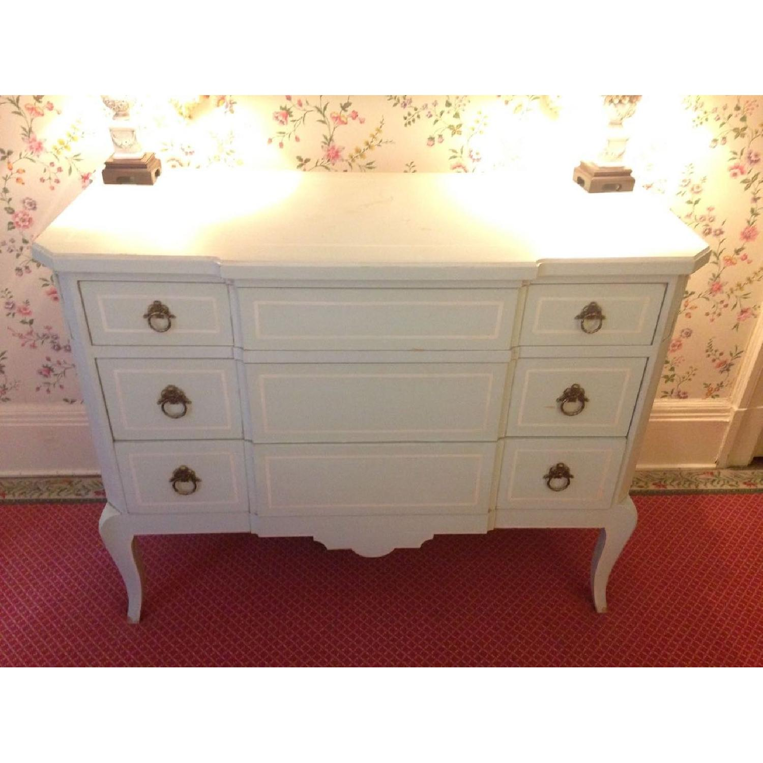 Julia Gray French Dresser w/ Blue Accents - image-17
