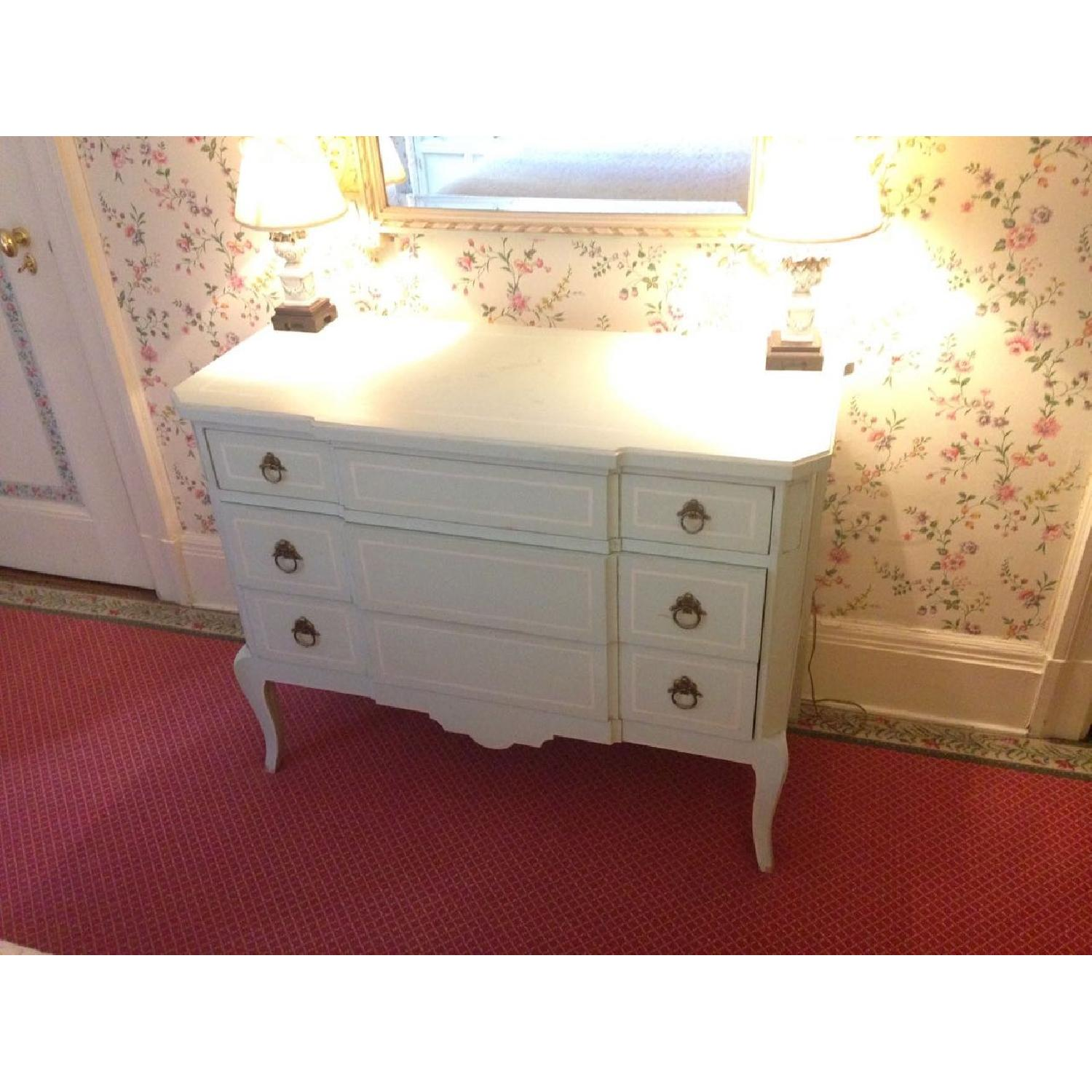 Julia Gray French Dresser w/ Blue Accents - image-18