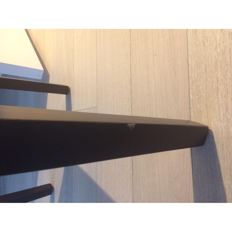 Cream Upholstered Chair w/ Dark Wooden Legs - image-5