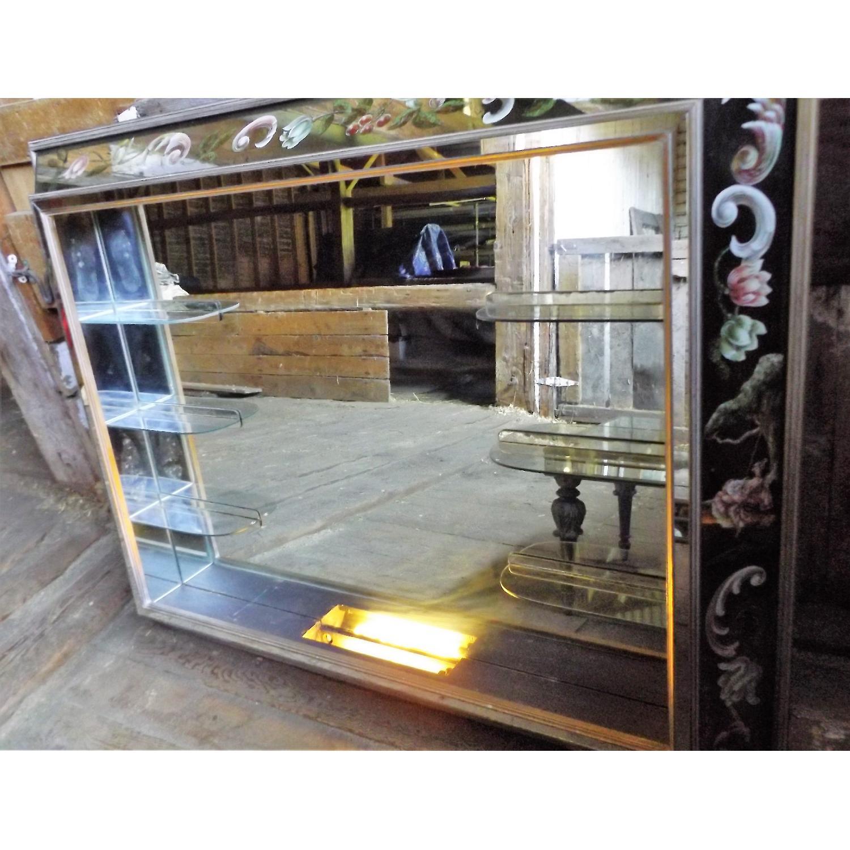 Art Nouveau Mirrored Wall Liquor Shadow Box + Matching Coffee Table - image-5