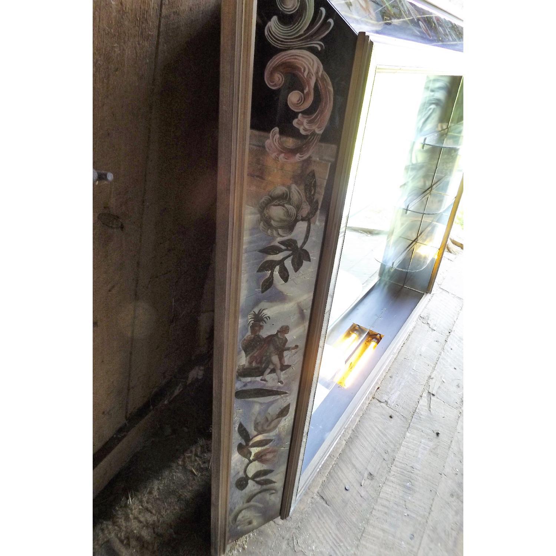 Art Nouveau Mirrored Wall Liquor Shadow Box + Matching Coffee Table - image-6