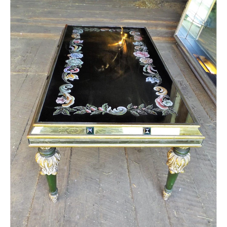 Art Nouveau Mirrored Wall Liquor Shadow Box + Matching Coffee Table - image-10
