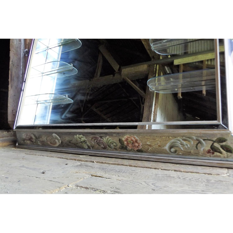 Art Nouveau Mirrored Wall Liquor Shadow Box + Matching Coffee Table - image-11