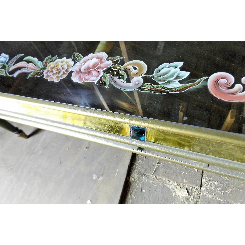 Art Nouveau Mirrored Wall Liquor Shadow Box + Matching Coffee Table - image-12