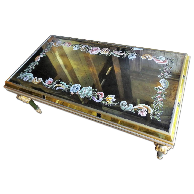 Art Nouveau Mirrored Wall Liquor Shadow Box + Matching Coffee Table - image-17