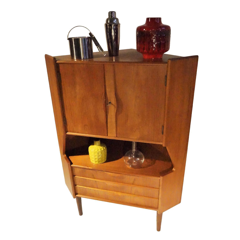Omann Jun Teak Corner Bar/Cabinet - image-3