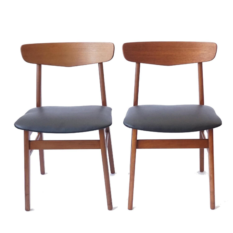 Farstrup V-Back Teak Chairs - image-1