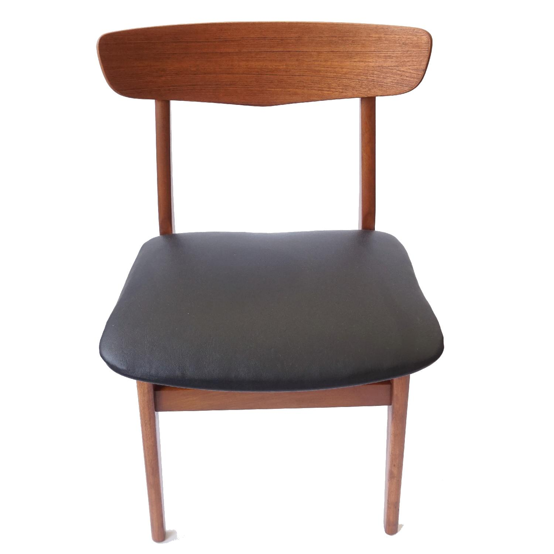 Farstrup V-Back Teak Chairs - image-0