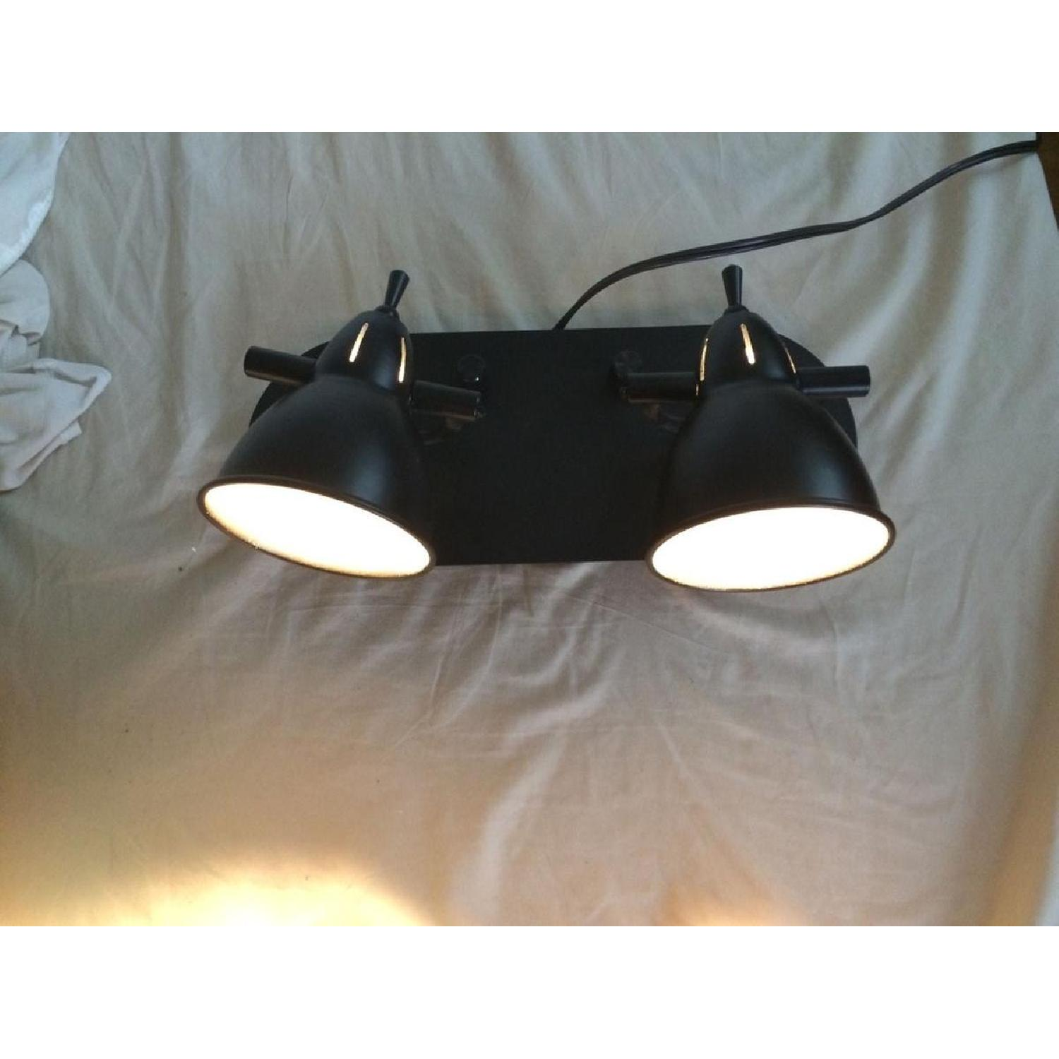 LED Brown Two Head Wall Lamp - image-2