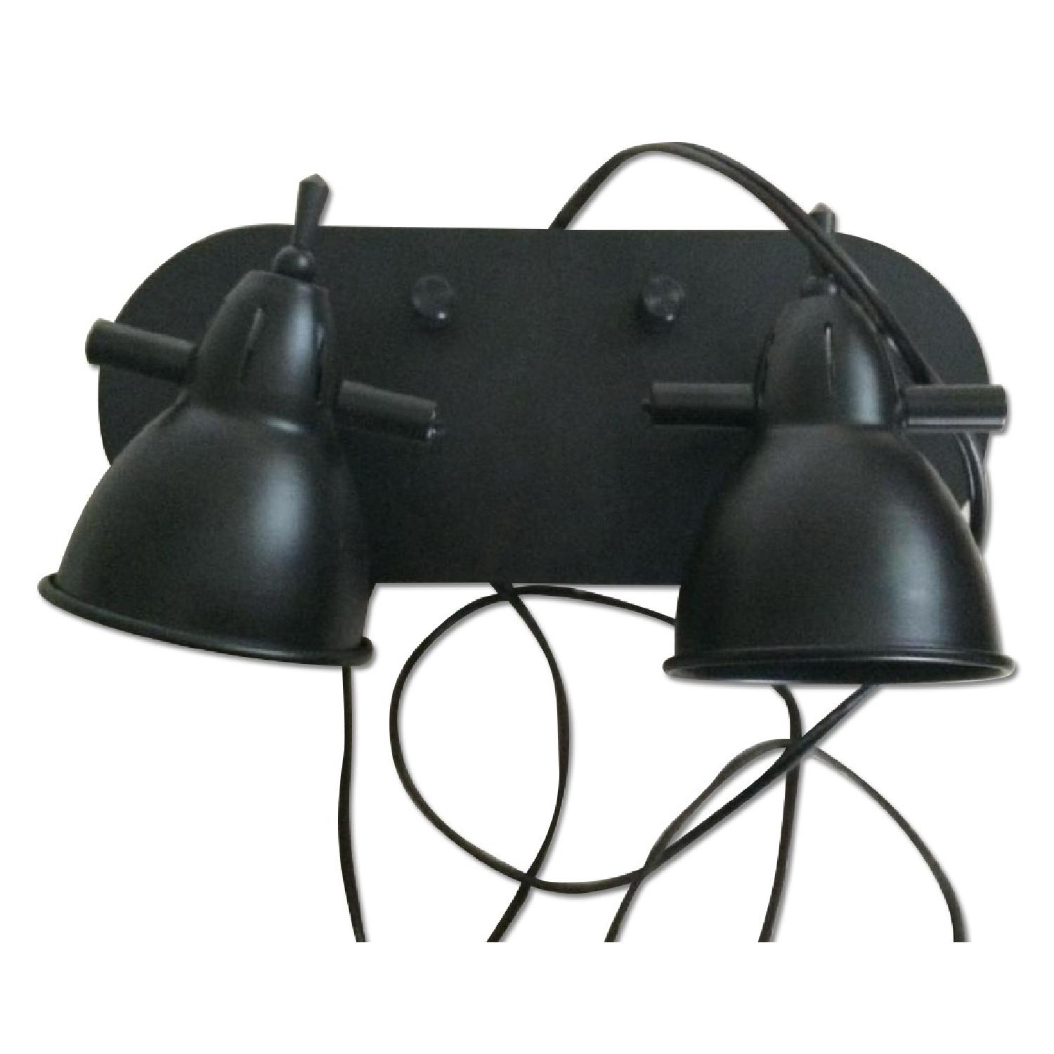 LED Brown Two Head Wall Lamp - image-0