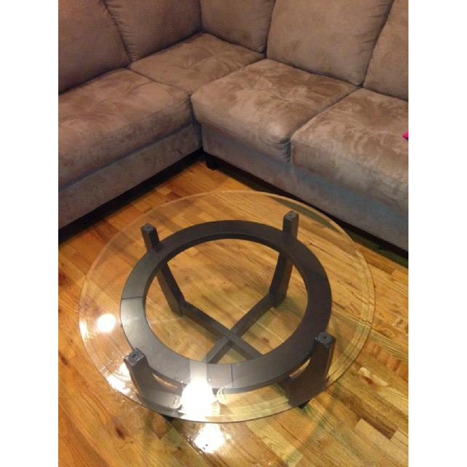 Espresso Coffee Table + 2 End Tables - image-1