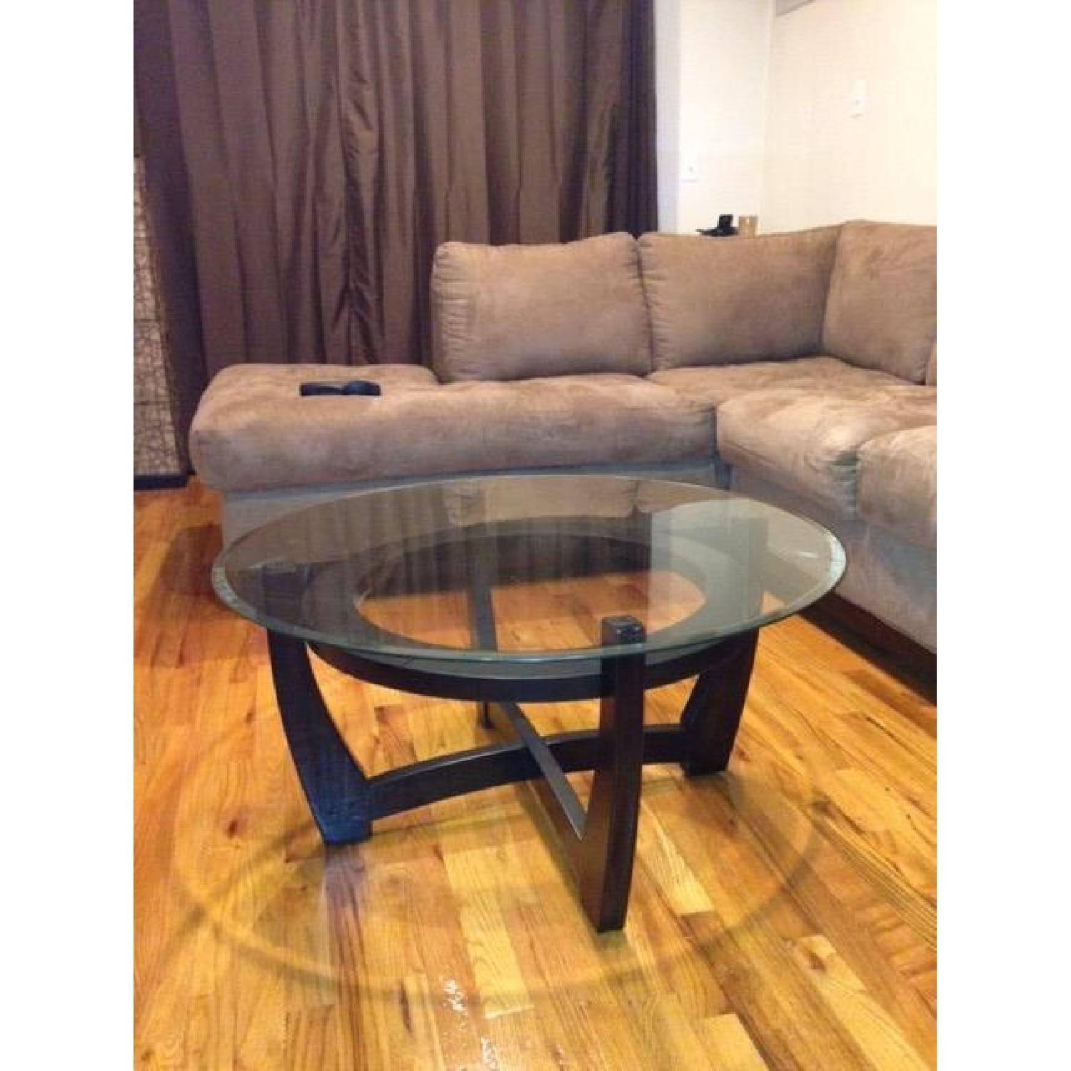 Espresso Coffee Table + 2 End Tables - image-2