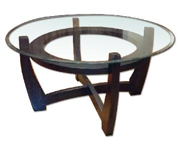 espresso coffee table 2 end tables
