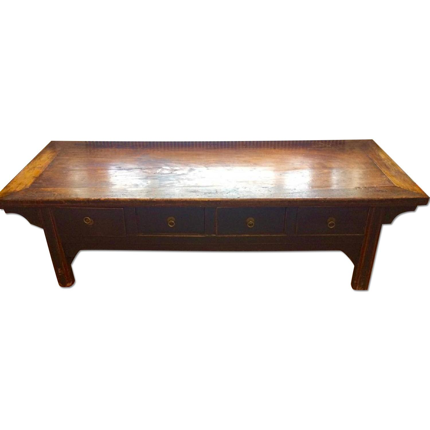 Antique Chinese Low Sideboard - image-0