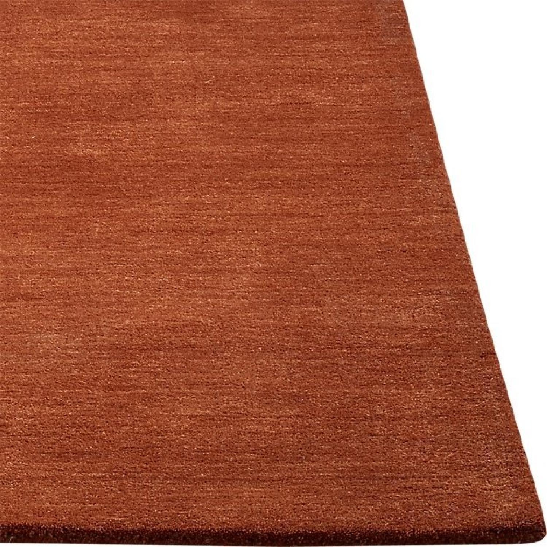 Crate & Barrel Baxter Marigold Orange Wool Rug - image-0