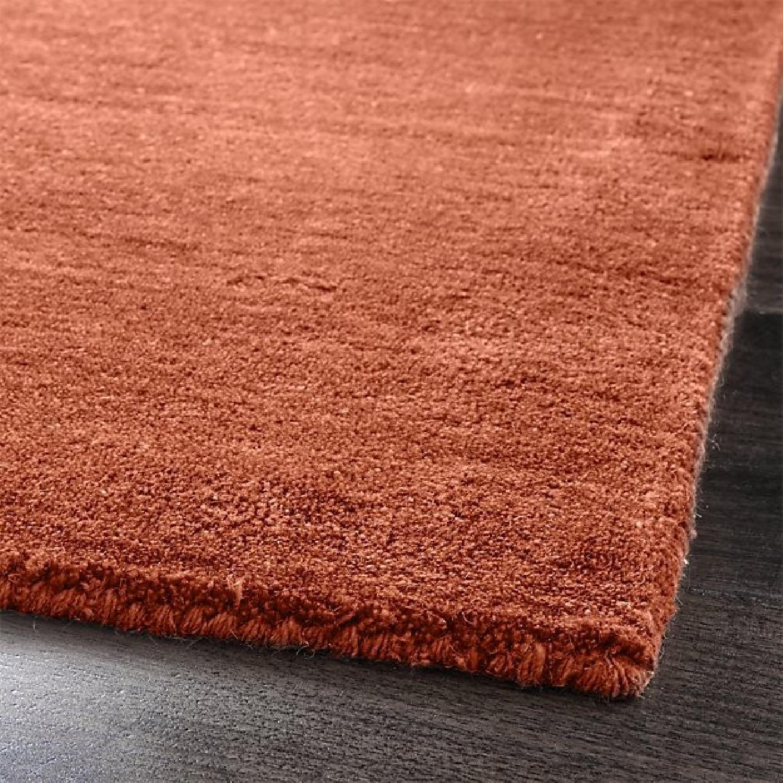 Crate & Barrel Baxter Marigold Orange Wool Rug - image-1