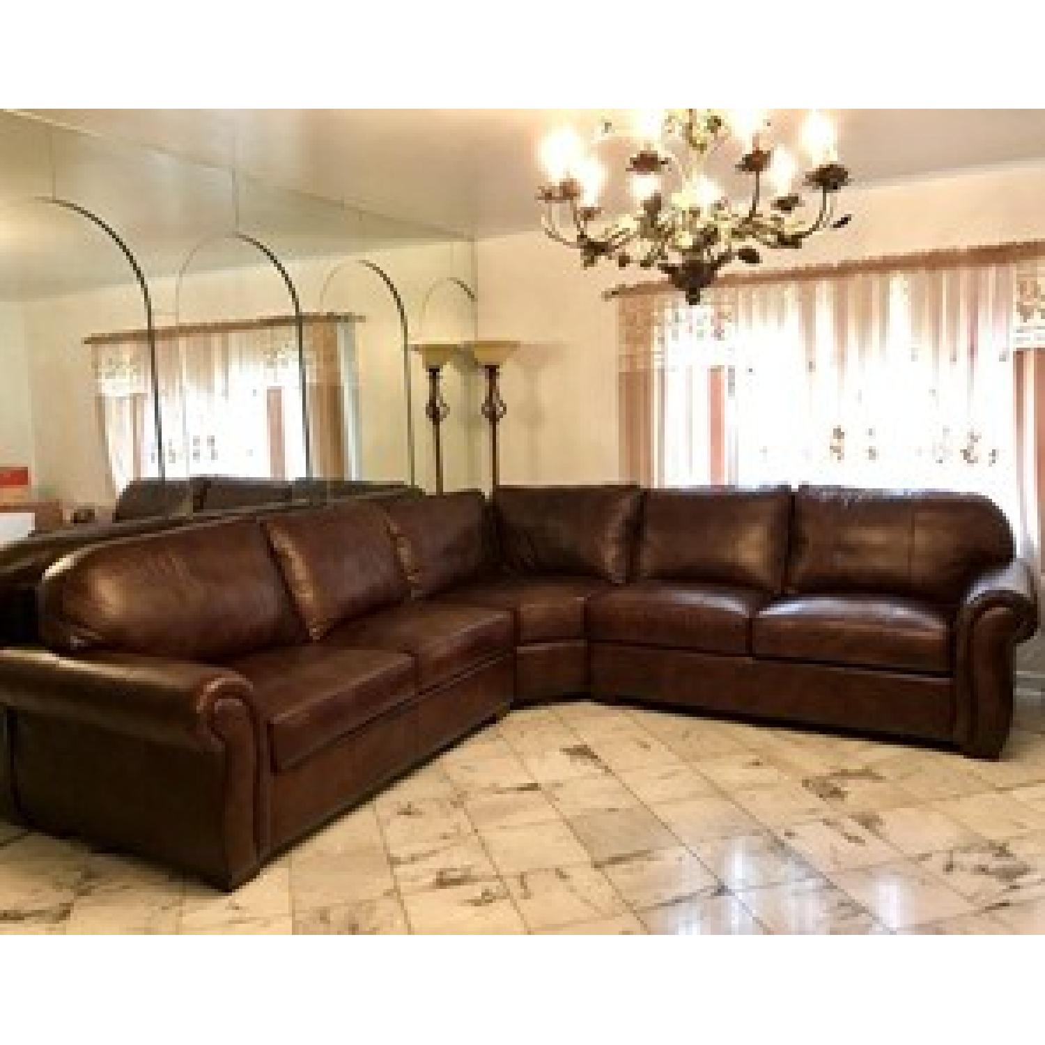 Raymour & Flanigan Emery 3-Piece Leather Sectional - image-1