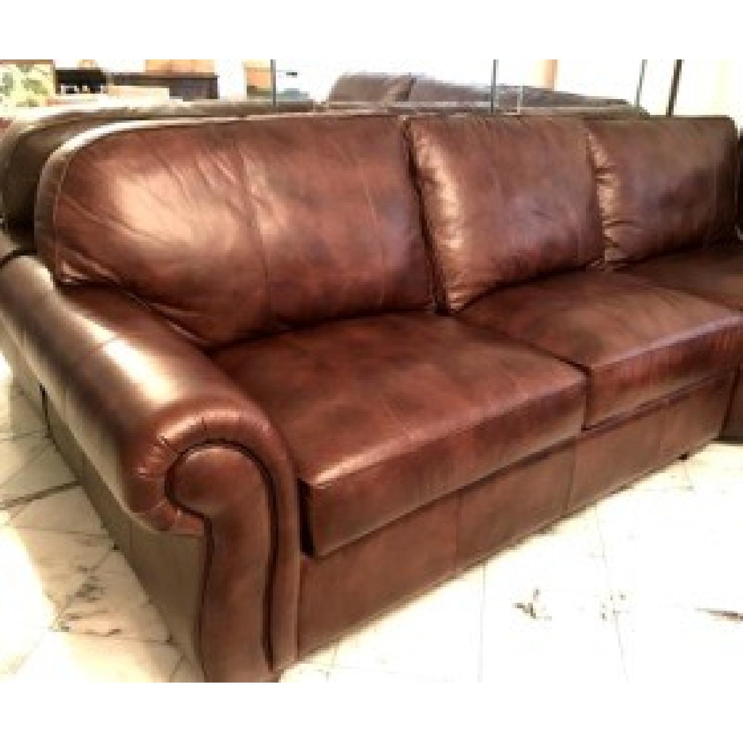 Raymour & Flanigan Emery 3-Piece Leather Sectional - image-2