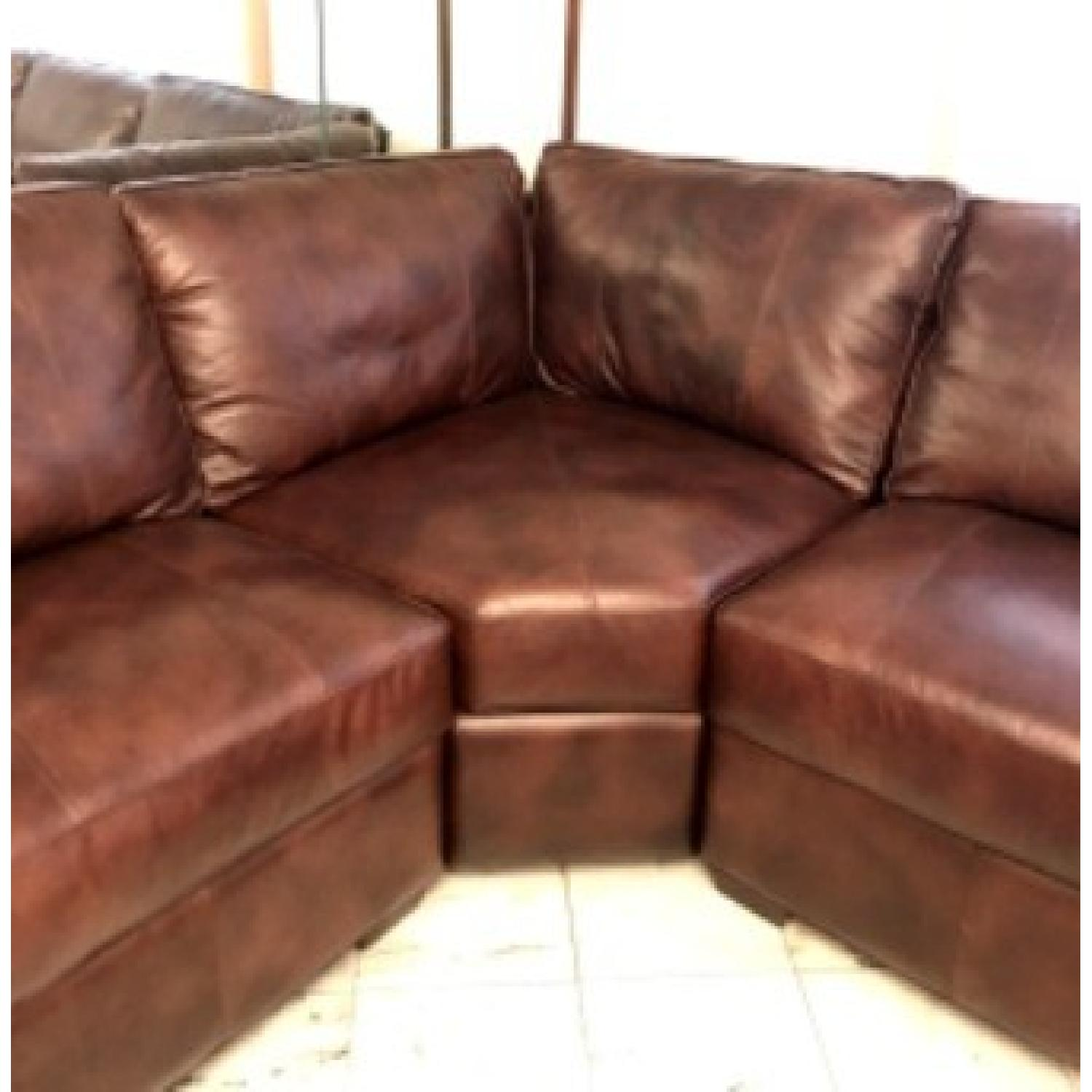 Raymour & Flanigan Emery 3-Piece Leather Sectional - image-3