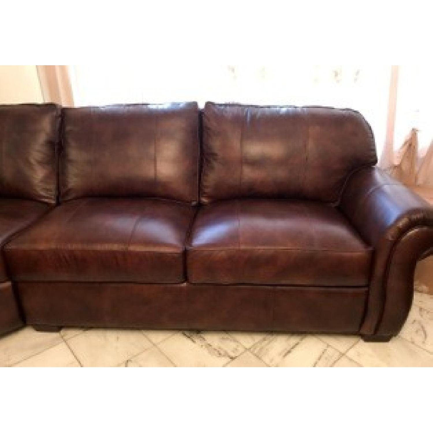 Raymour & Flanigan Emery 3-Piece Leather Sectional - image-4