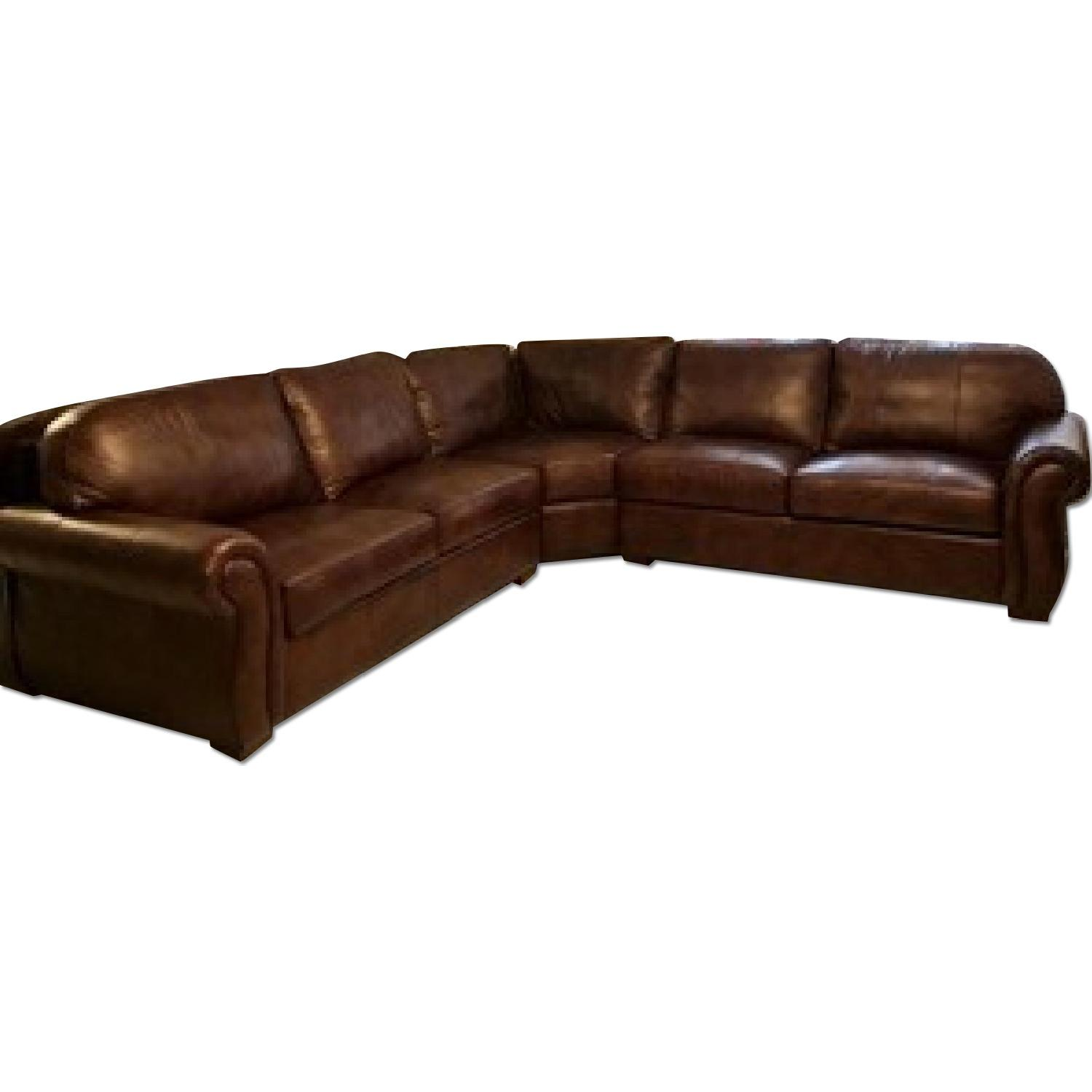Raymour & Flanigan Emery 3-Piece Leather Sectional - image-0