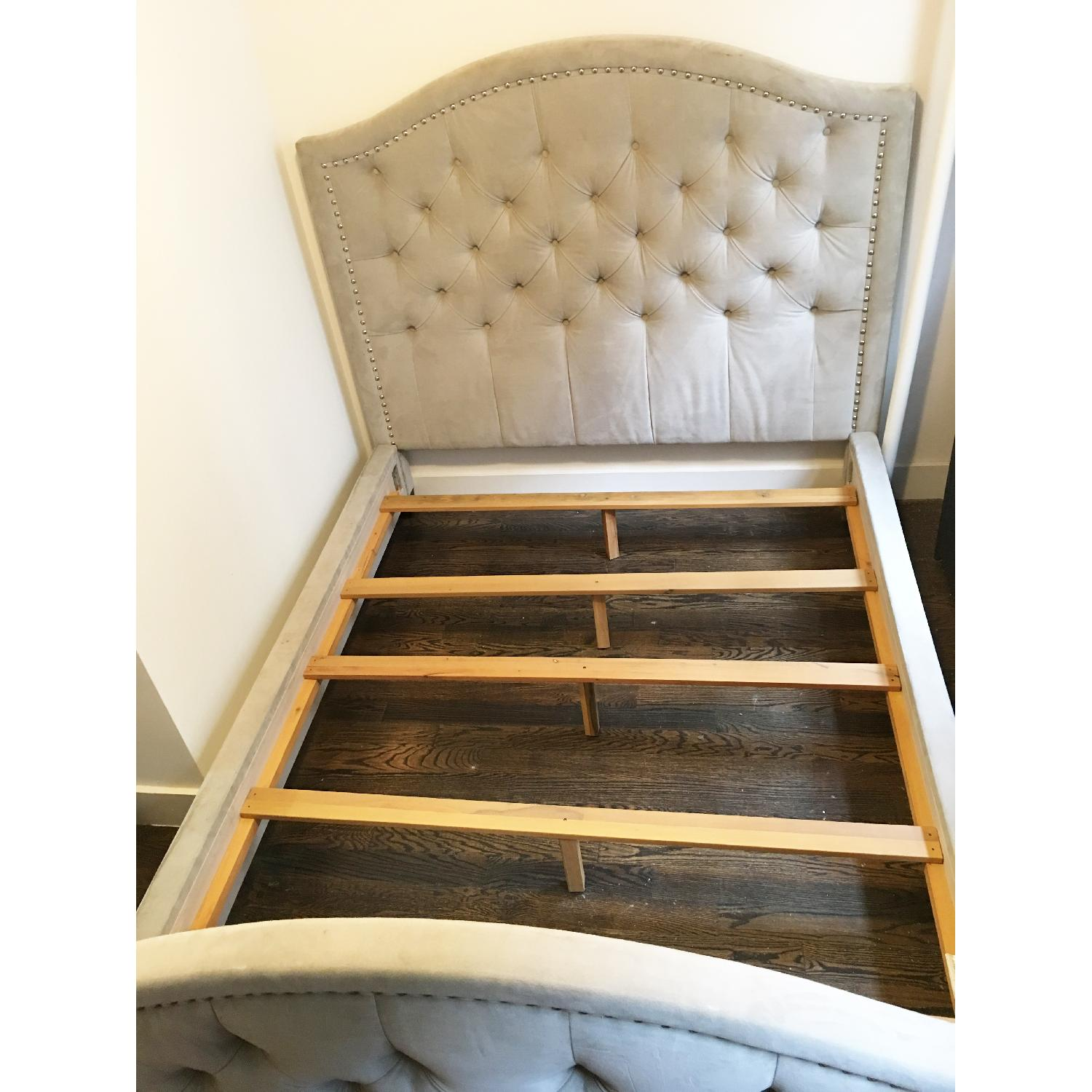 Z Gallerie Nicolette Queen Size Bed Frame - image-4