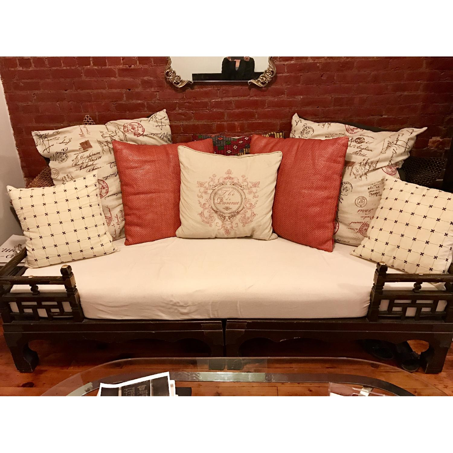 2 Piece Indonesian Daybed w/ Pillows - image-1