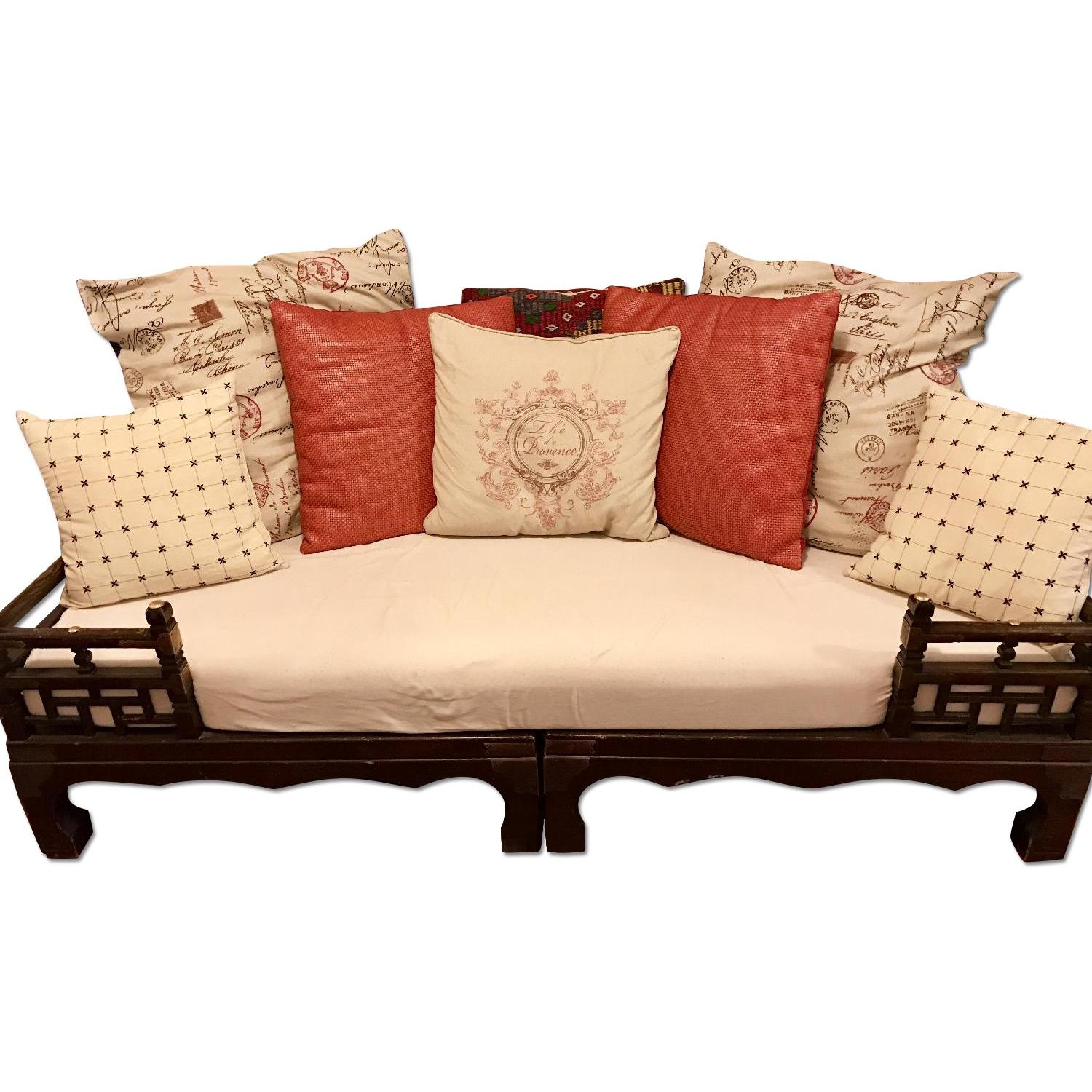 2 Piece Indonesian Daybed w/ Pillows - image-0