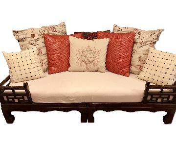 2 Piece Indonesian Daybed w/ Pillows