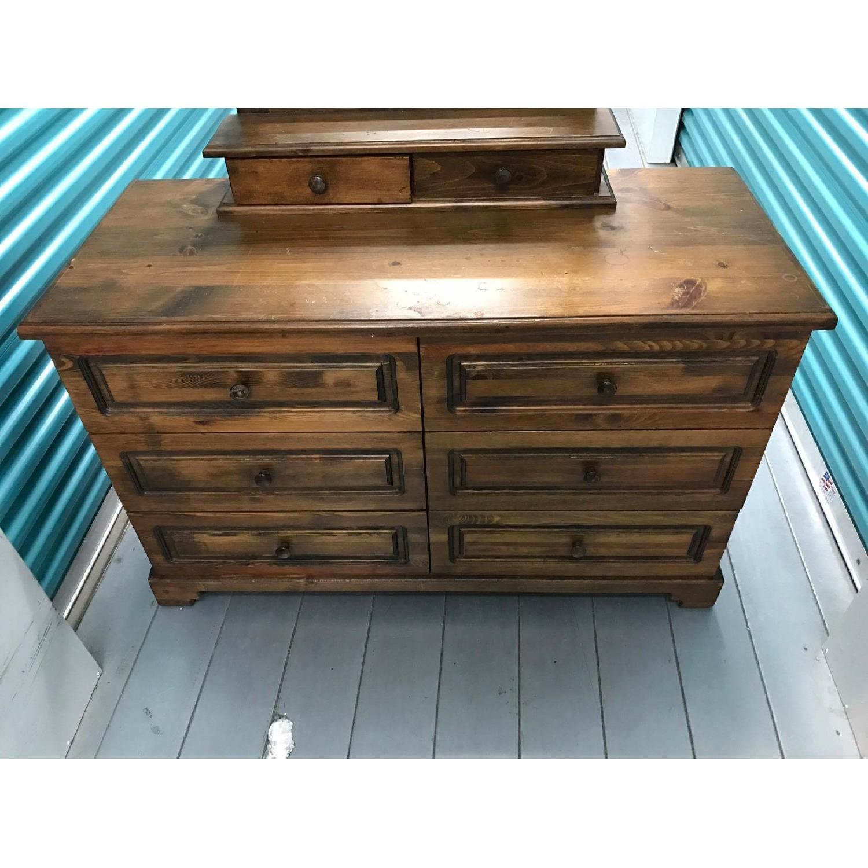 1980s Vintage Dresser w/ Mirror - image-2