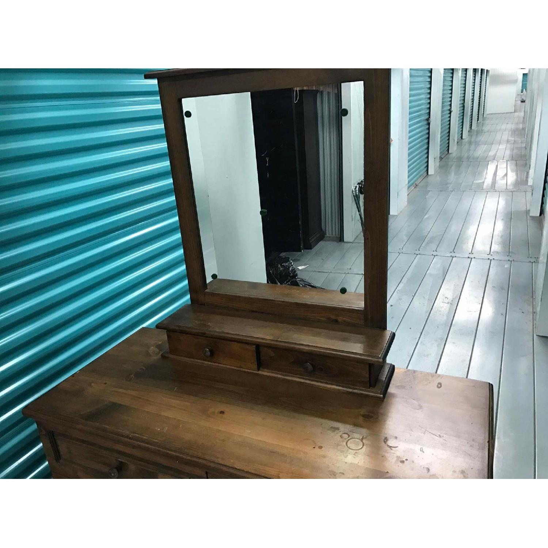 1980s Vintage Dresser w/ Mirror - image-3
