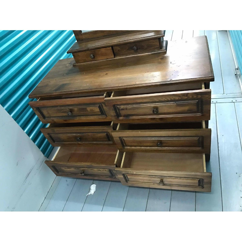 1980s Vintage Dresser w/ Mirror - image-5