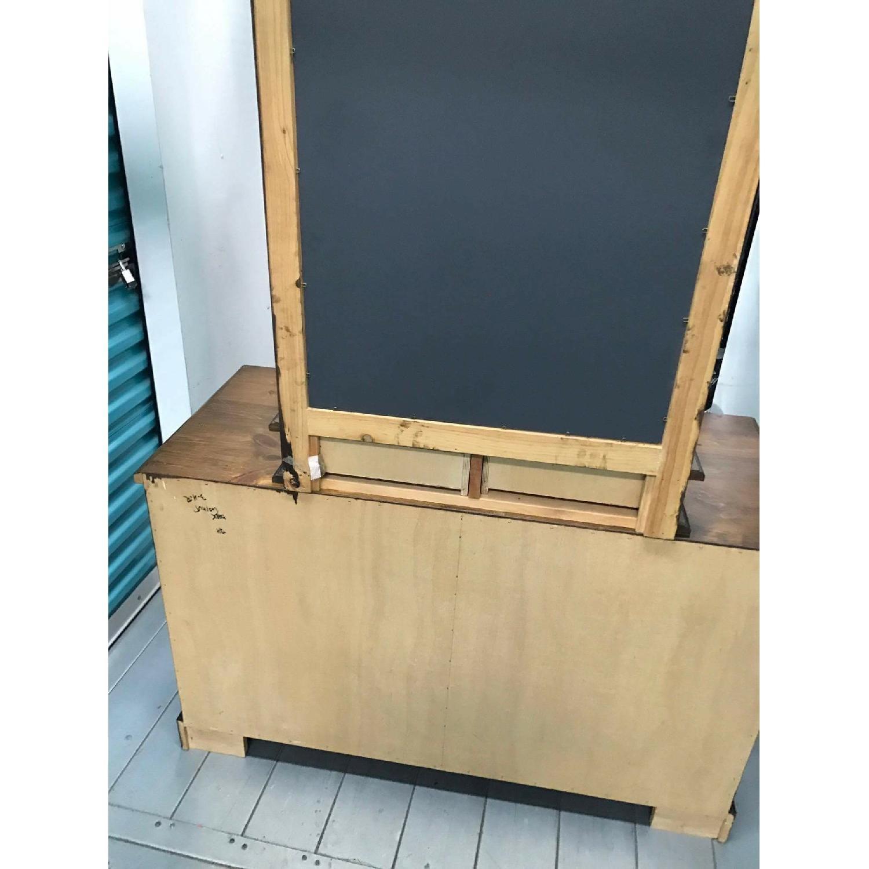1980s Vintage Dresser w/ Mirror - image-6