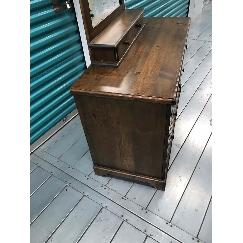 1980s Vintage Dresser w/ Mirror - image-9