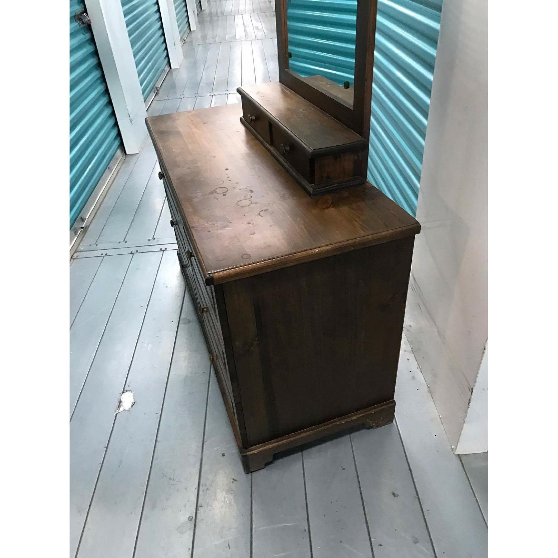 1980s Vintage Dresser w/ Mirror - image-10