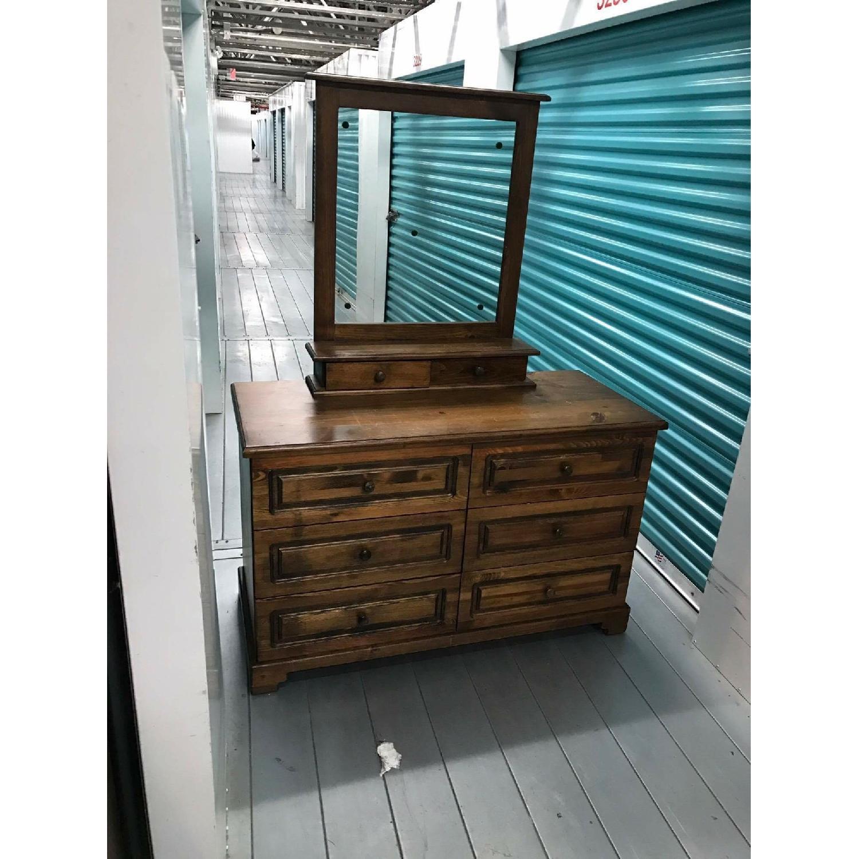 1980s Vintage Dresser w/ Mirror - image-11