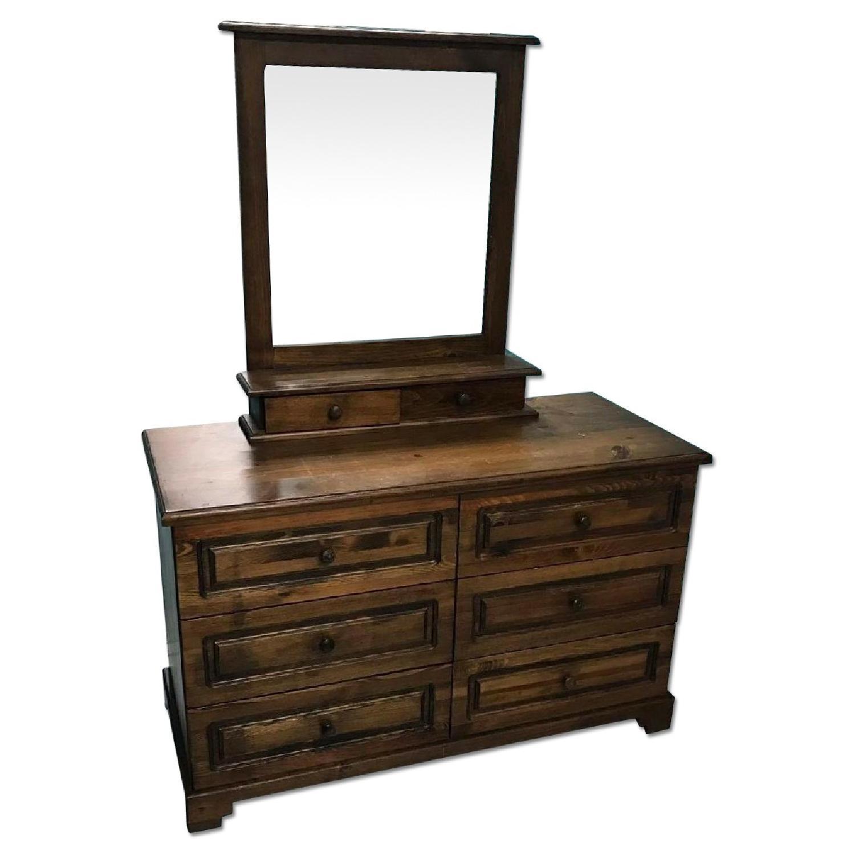 1980s Vintage Dresser w/ Mirror - image-0