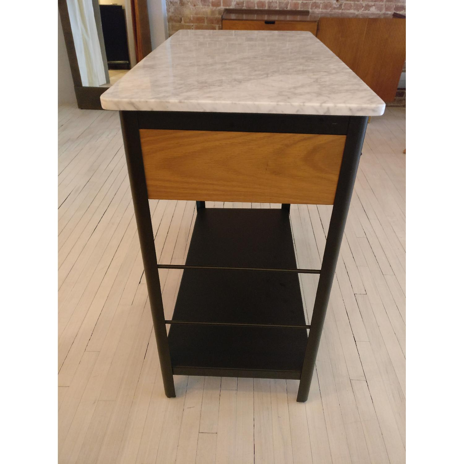 West Elm Marble Top Kitchen Island - image-2